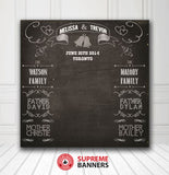 Custom Wedding Backdrop Template #4 - Supreme Banners