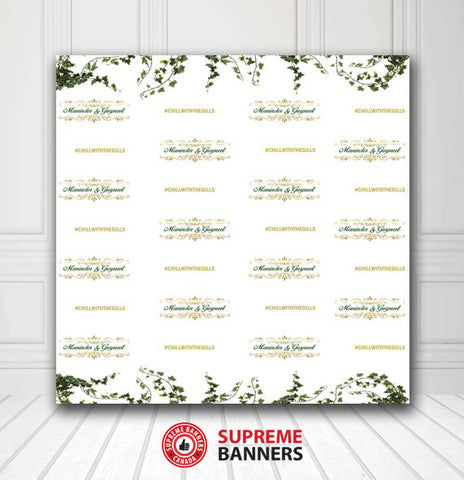 Custom Wedding Backdrop Template #7 - Supreme Banners