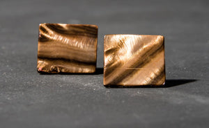 Glistening Bronze Mother of Pearl Square Studs