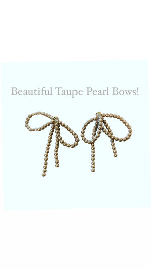 Taupe Pearl Bows