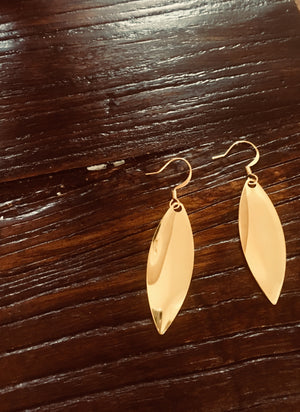 Simple Glam Gold Color Statement Earrings