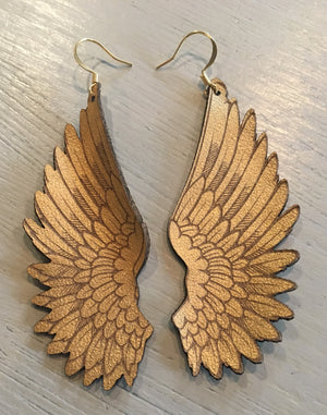 Small gold angel wings