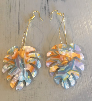 Palm acrylic statement earrings