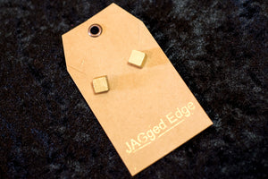 Gold painted marble studs