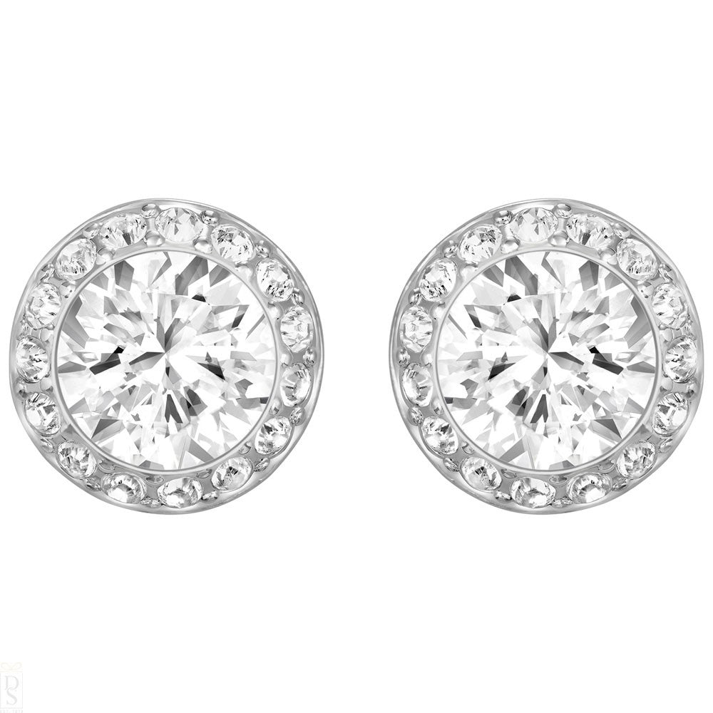 SWAROVSKI ANGELIC PIERCED EARRINGS, WHITE, RHODIUM PLATING