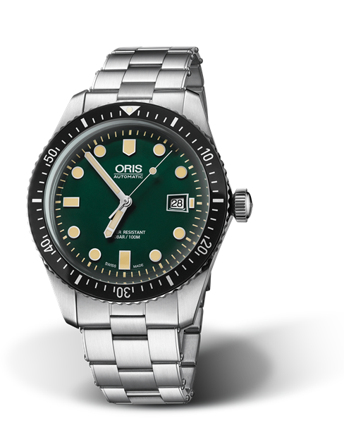ORIS DIVERS SIXTY-FIVE  GREEN DIAL 01 733 7720 4057