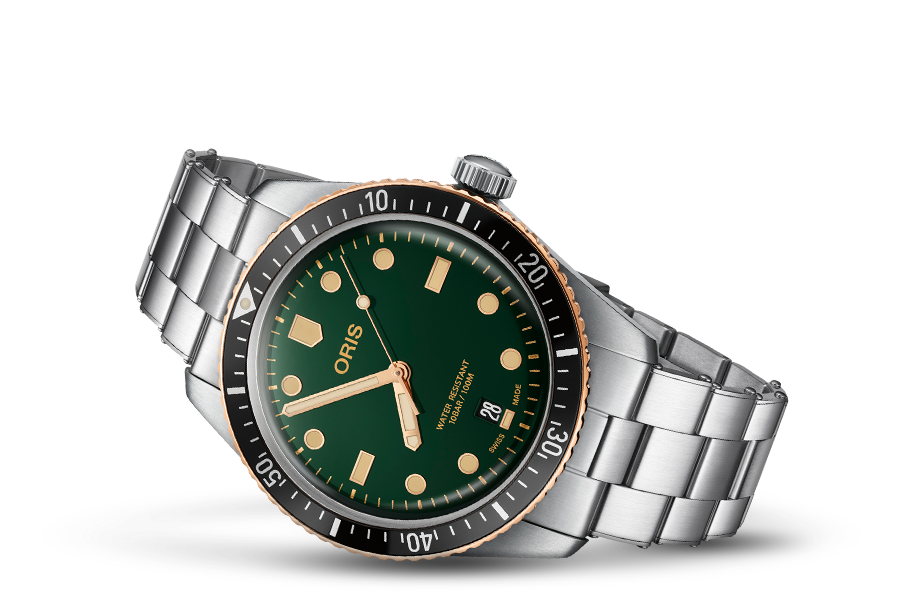 ORIS DIVERS SIXTY-FIVE  40mm GREEN DIAL 01 733 7707 4357-07 8 20 18