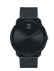 MOVADO BOLD BLACK DIAL BLACK ION PLATED MEN'S WATCH