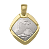 TWO TONE GOLD SOLID BAPTISM MEDAL