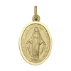 YELLOW GOLD SOLID MIRACULOUS MEDAL
