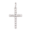 WHITE GOLD C.Z. CROSS