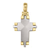 YELLOW AND WHITE  GOLD CROSS
