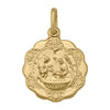 YELLOW GOLD HOLLOW BAPTISM MEDAL