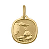 YELLOW GOLD SOLID BAPTISM MEDAL