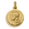 YELLOW GOLD SOLID JESUS MEDAL