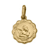 YELLOW GOLD HOLLOW ANGEL MEDAL