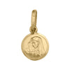 YELLOW GOLD SOLID MADONNA MEDAL