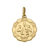 YELLOW GOLD HOLLOW CONFIRMATION MEDAL