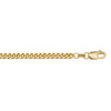 YELLOW GOLD SOLID DOMED  LINK CHAIN