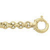 TWO TONE GOLD HOLLOW ROUND FANCY LINK CHAIN