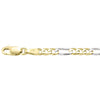 TWO TONE GOLD SOLID FIGARO LINK CHAIN