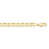 YELLOW GOLD SOLID FLAT ANCHOR LINK CHAIN