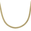 YELLOW GOLD HOLLOW ROUND MESH FANCY LINK NECKLACE
