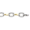 TWO TONE HOLLOW FANCY BRACELET