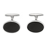 WHITE GOLD ONYX CUFFLINKS