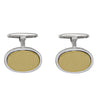 TWO TONE FANCY CUFFLINKS