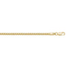 YELLOW GOLD HOLLOW POPCORN LINK CHAIN
