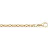 YELLOW GOLD SOLID BYZANTINE LINK CHAIN