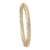6MM YELLOW GOLD TWIST BANGLE