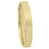 YELLOW GOLD SQUARE TUBE HIGH POLISH HOLLOW BANGLE