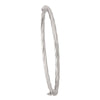 3MM WHITE GOLD TWIST BANGLE