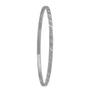3MM WHITE GOLD DIAMOND CUT SLIP ON BANGLE