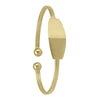 YELLOW GOLD CUFF BABY BANGLE