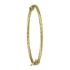 YELLOW GOLD TWIST BABY BANGLE
