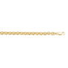 YELLOW GOLD HOLLOW ROLO LINK CHAIN