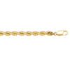 YELLOW GOLD HOLLOW ROPE LINK CHAIN