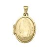 YELLOW GOLD OVAL LOCKET