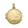 YELLOW GOLD ROUND LOCKET
