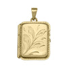 YELLOW GOLD RECTANGULAR LOCKET