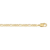 YELLOW GOLD HOLLOW FIGARO  LINK CHAIN