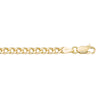 YELLOW GOLD HOLLOW CURB LINK CHAIN