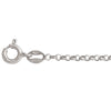 SILVER RHODIUM HOLLOW ROLO LINK CHAIN