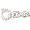 SILVER HOLLOW ROLO LINK CHAIN