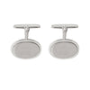 SILVER FANCY OVAL CUFFLINK