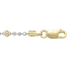 TWO TONE GOLD STATION BEAD LINK CHAIN