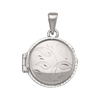 WHITE GOLD ROUND LOCKET